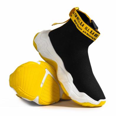 Slip-on Chunky мъжки маратонки в черно gr020221-18 5