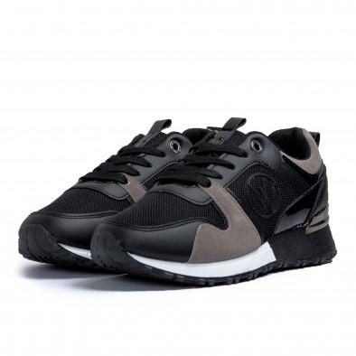 Дамски маратонки в черно и сиво it110221-1 3