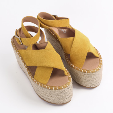 Дамски сандали на платформа в жълто it270320-6 3