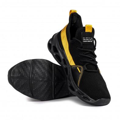 Мъжки маратонки Chevron в черно и жълто it051021-2 4