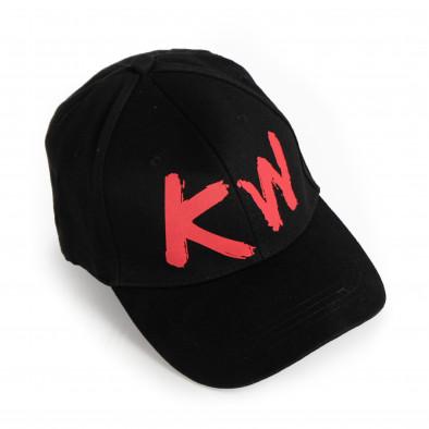 Плитка черна шапка с козирка gr090321-9 3