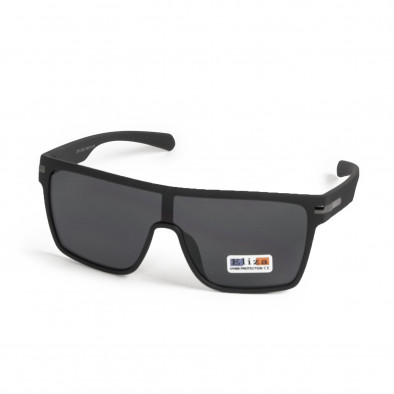Трапецовидни черни очила тип маска il200521-14 3