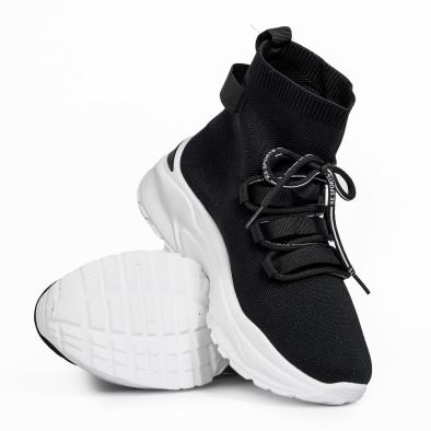 Дамски маратонки чорап в черно it161220-15 4