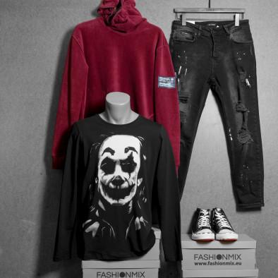 Мъжка черна блуза JOKER tr020920-53 4