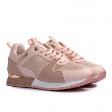 Дамски розови маратонки с фини акценти it110221-7 4