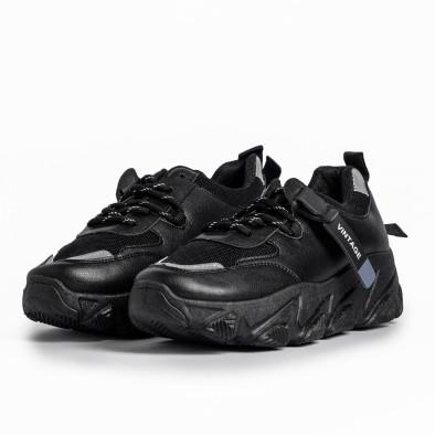 Дамски черни маратонки Vintage it280820-12 3