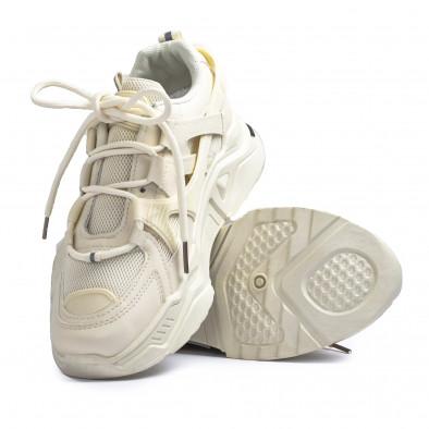 Chunky дамски маратонки цвят екрю it110221-10 4