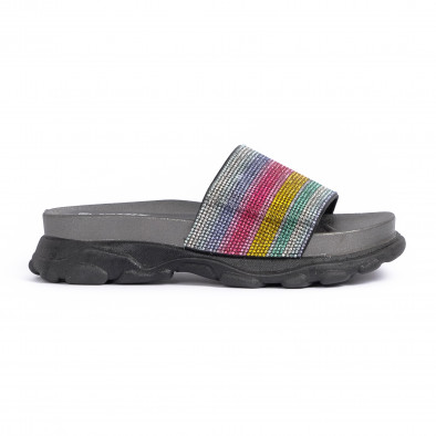 Дамски джапанки Rainbow Chunky в черно it030620-4 2