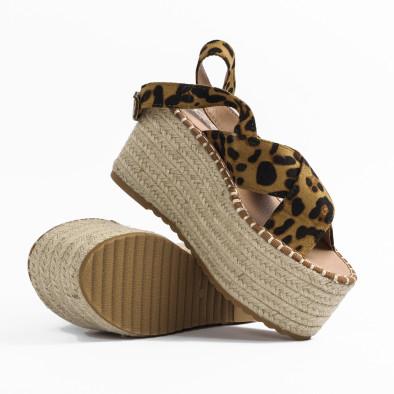 Дамски сандали на платформа леопард it270320-5 4