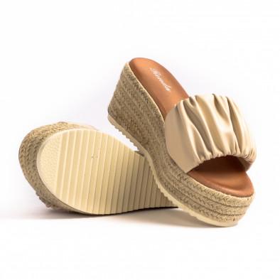 Дамски чехли на платформа с декоративен набор it260521-9 4