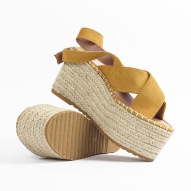 Дамски сандали на платформа в жълто it270320-6 4