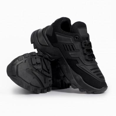 Дамски черни маратонки с гумиран детайл it280820-19 4