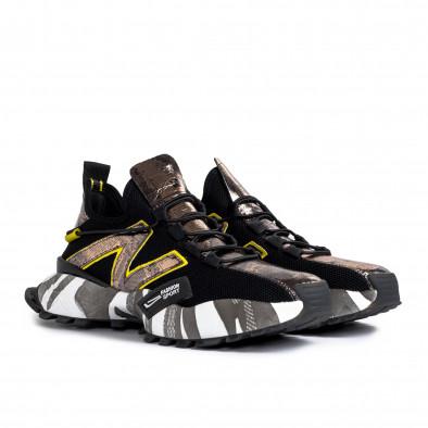 Slip-on black & metallic мъжки маратонки  gr270421-32 4