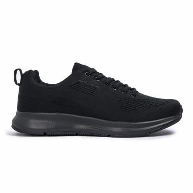 Плетени мъжки маратонки All black it260620-7 2