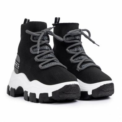 Chunky маратонки чорап в черно и сиво tr231020-2 3