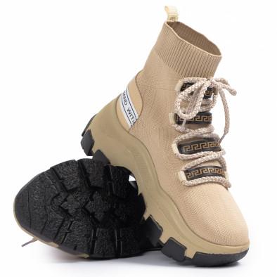 Chunky маратонки чорап в бежово tr231020-3 4