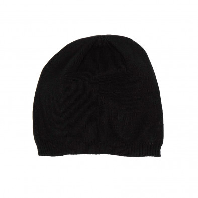 Basic мъжка плетена шапка в черно il161220-5 2