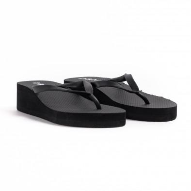Дамски черни джапанки на платформа it260521-13 3