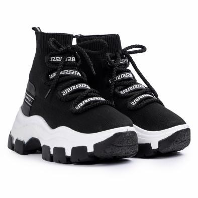 Chunky маратонки чорап в черно tr231020-1 3