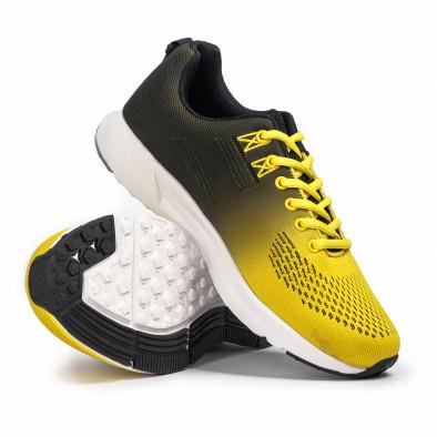 Плетени мъжки маратонки жълт градиент it260620-6 4
