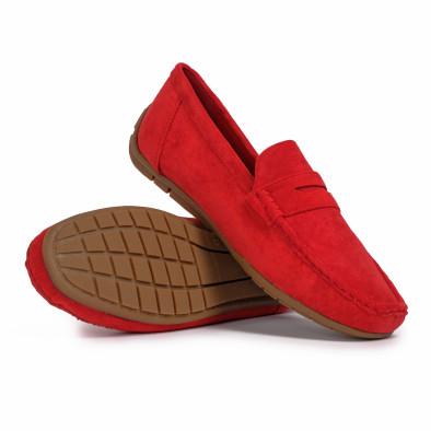 Мъжки спортни мокасини червен велур it140720-2 4
