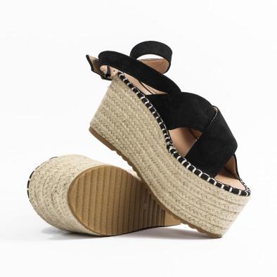 Дамски сандали на платформа в черно it270320-4 4