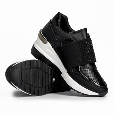 Slip-on дамски черни маратонки на платформа it280820-3 4