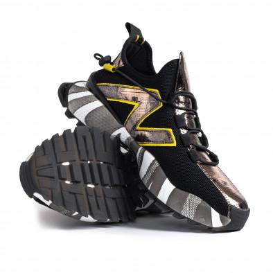 Slip-on black & metallic мъжки маратонки  gr270421-32 5