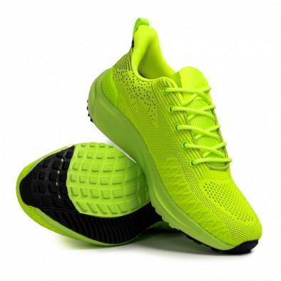 Текстурирани маратонки неоново зелено it090321-6 4