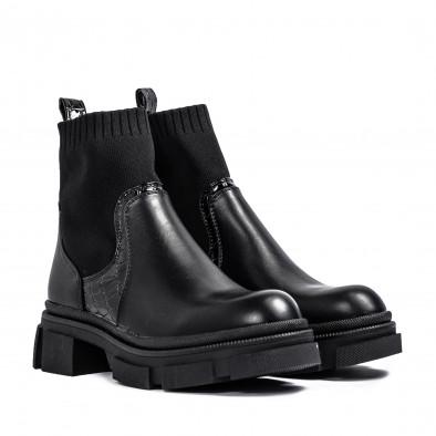 Комбинирани дамски боти тип чорап it231120-3 3