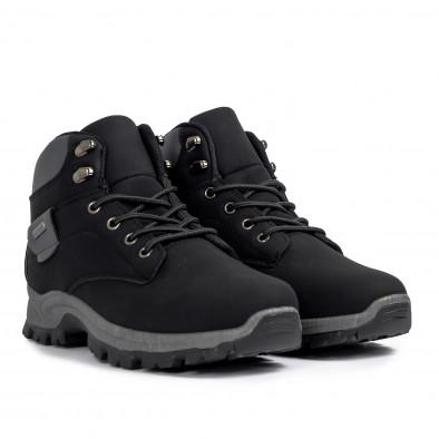 Мъжки трекинг обувки в черно и сиво it021120-1 3