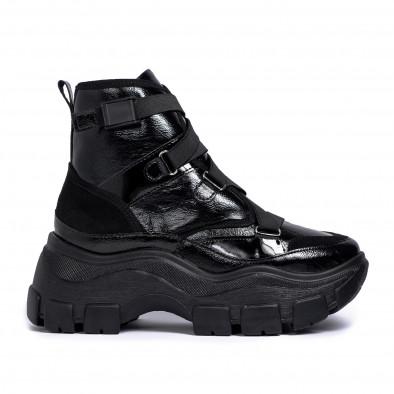 Chunky черни спортни боти с ластици tr201120-2 2