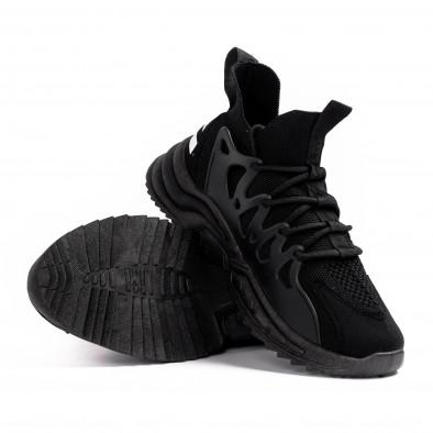 Мъжки маратонки чорап в черно gr080621-2 4