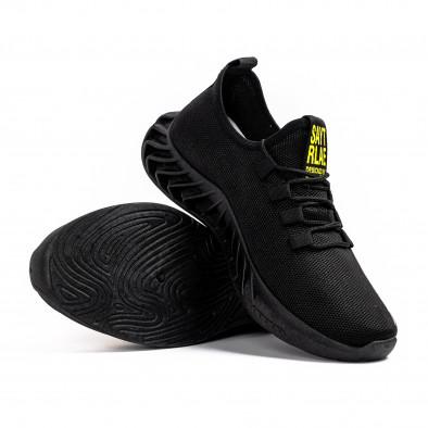 Мъжки текстилни маратонки Black & Yellow gr080621-6 4