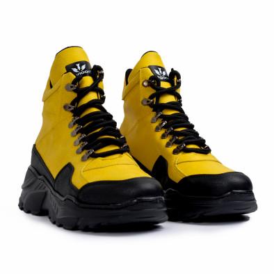 Високи маратонки в жълто трекинг дизайн tr181120-1 3