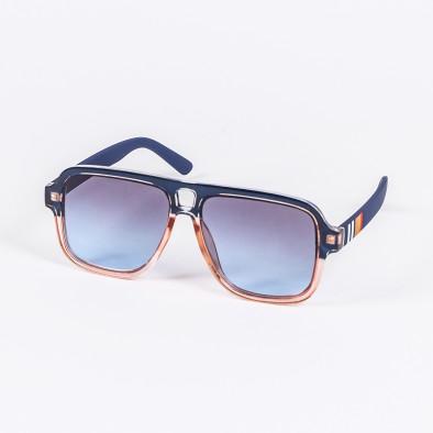 Опушени слънчеви очила масивна рамка в синьо il200720-3 2