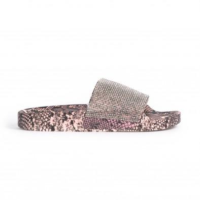 Дамски джапанки змийски мотив в розово it030620-7 2