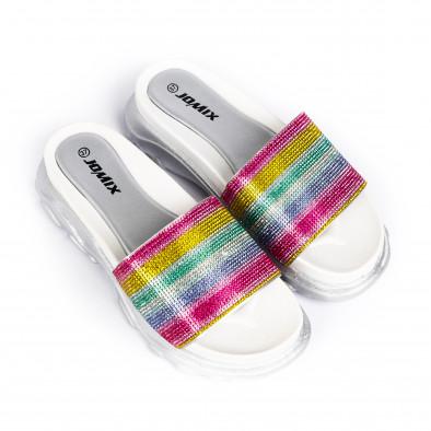 Дамски джапанки Rainbow Chunky сребристо it030620-3 3
