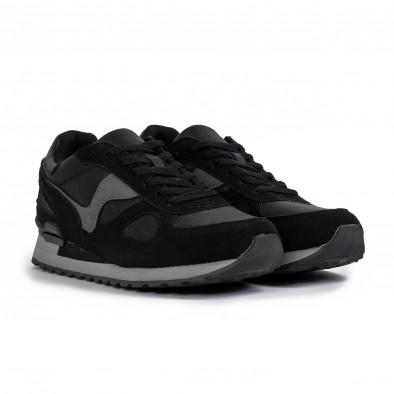 Комбинирани мъжки маратонки в черно и сиво it300920-53 3