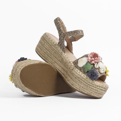 Дамски сандали в кафяво с декорация it270320-16 5