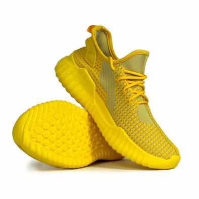 Мъжки еластични маратонки в жълто it180820-6 4