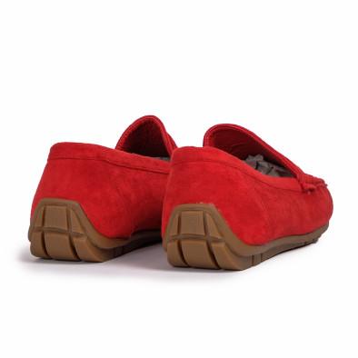 Мъжки спортни мокасини червен велур it140720-2 5