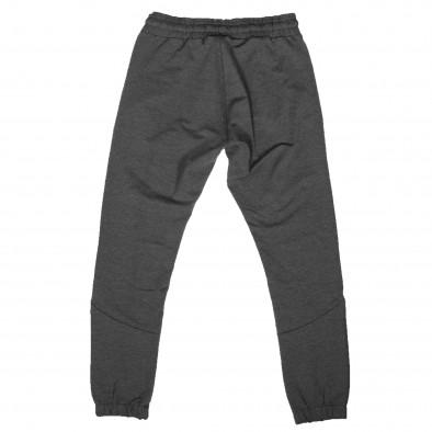 Мъжко сиво долнище с ципове на джобовете it261120-4 3