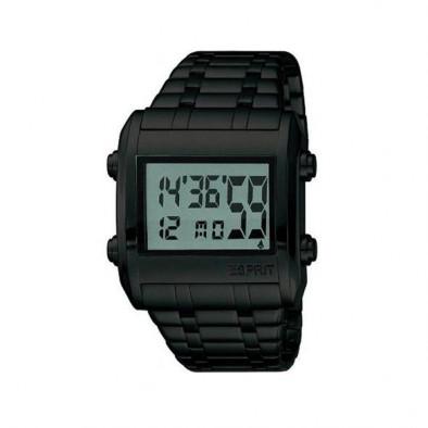 Мъжки часовник Esprit черен с електронен дисплей