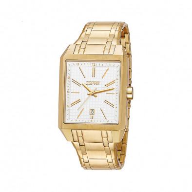 Мъжки часовник Esprit  златист браслет с бял циферблат