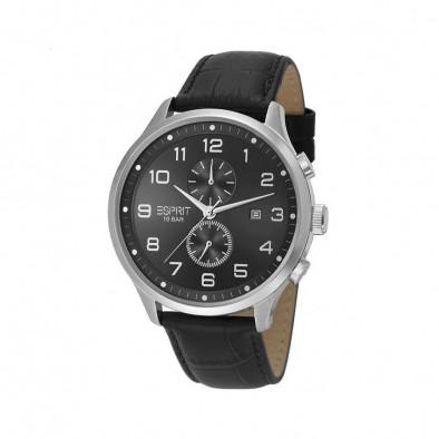 Мъжки часовник Esprit с черен циферблат и черна каишка