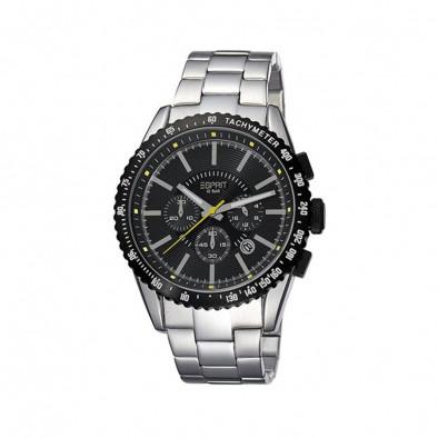 Мъжки часовник Esprit сребрист браслет с черен циферблат