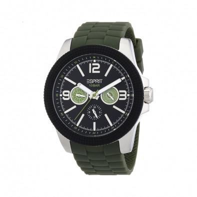 Мъжки часовник Esprit със зелена каучукова каишка