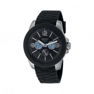Мъжки часовник Esprit с черна каучукова каишка