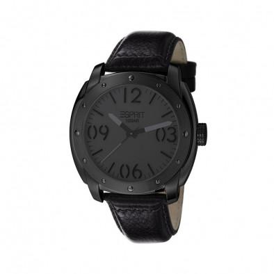 Мъжки часовник Esprit с черна каишка и черен циферблат